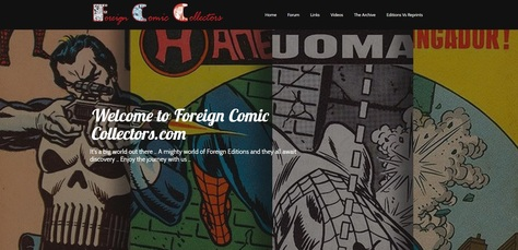 Foreign Comic Collectors Website