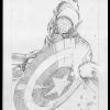 Paul Green's 'Captain America' commission for me. Stage #1: Pencils only.